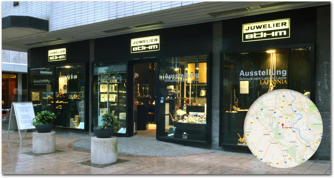 Juwerlier Böhm Atelier im Steinweg 27 in Brühl