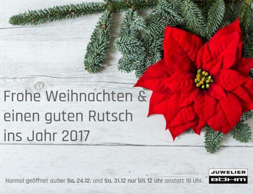 Wir wünschen Frohe Weihnachten & einen guten Rutsch