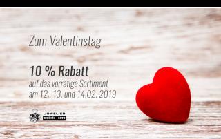 Valentinstag 2019 Rabatt auf Schmuck
