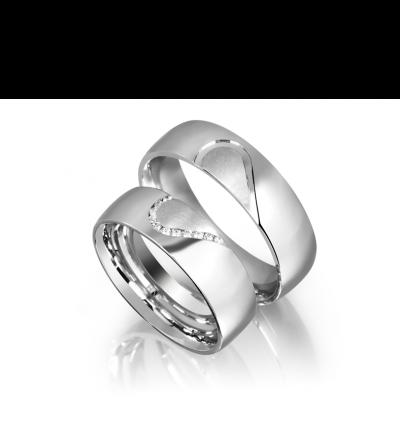 Partnerringe in Silber mit Zirkonia oder Brillanten